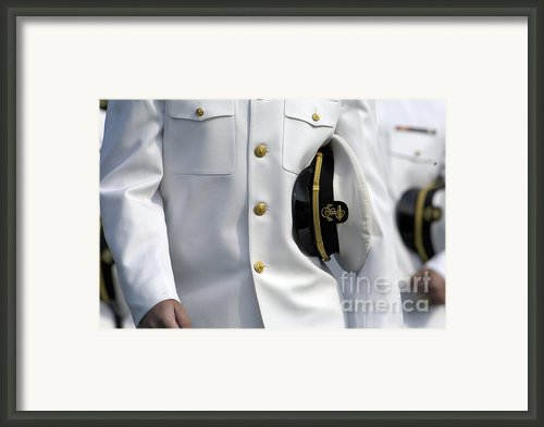 U.s. Naval Academy Midshipman In Dress Framed Print By Stocktrek Images