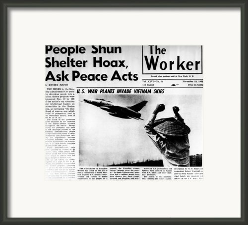 Us Planes Invade Vietnam Skies. An Framed Print By Everett