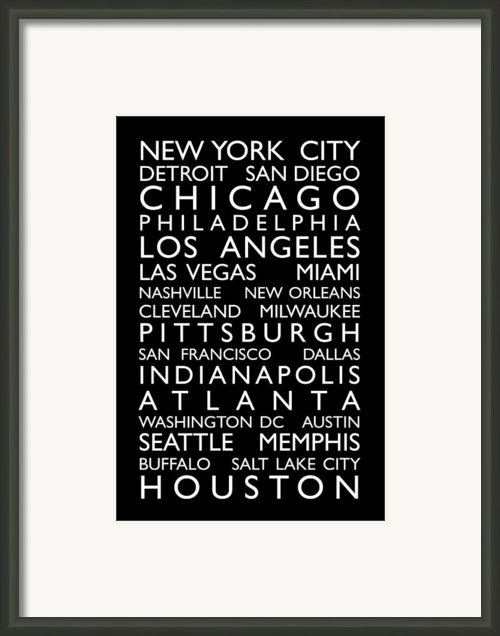 Usa Cities Bus Roll Framed Print By Michael Tompsett