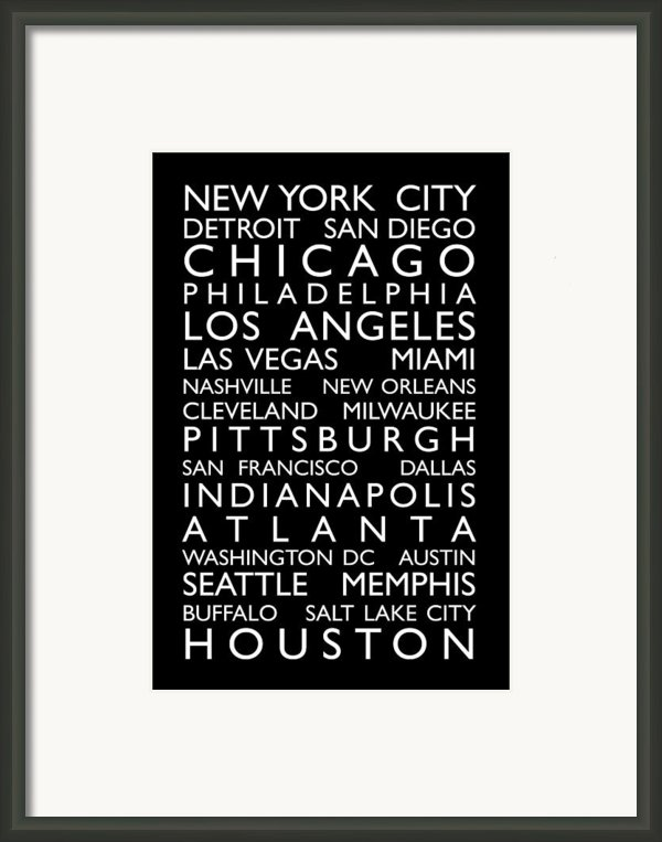 Usa Cities Bus Roll Framed Print By Michael Tompsett