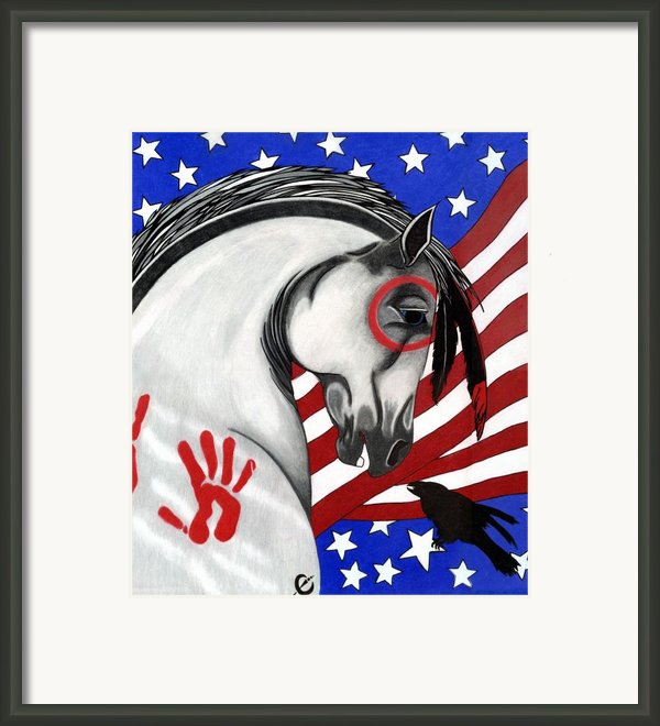 Usa Horse Framed Print By Wildwood  Artistry