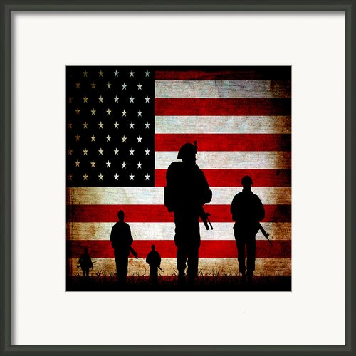 Usa Military Framed Print By Angelina Vick