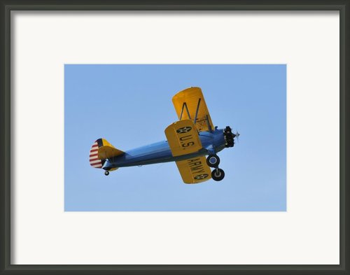 U.s.army Biplane Framed Print By David Lee Thompson
