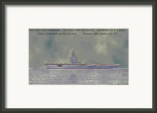 Uss Enterprise Cvan 65 Framed Print By Carl Deaville