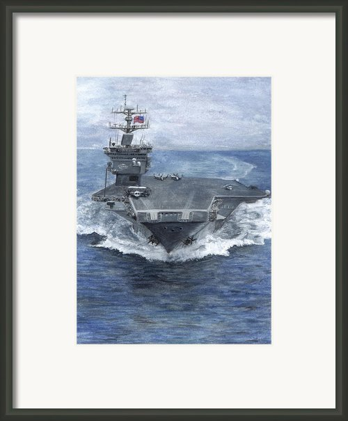 Uss Enterprise Framed Print By Sarah Howland-ludwig