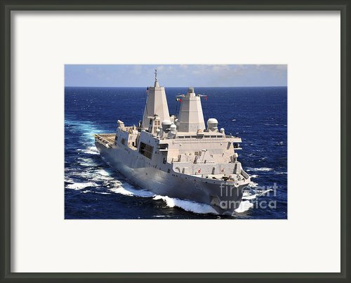 Uss Green Bay Transits The Indian Ocean Framed Print By Stocktrek Images