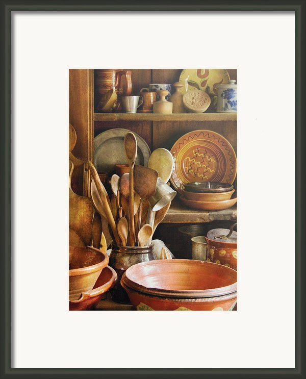 Utensils - Remembering Momma Framed Print By Mike Savad