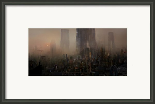 Utherworlds Cohabitations Framed Print By Philip Straub