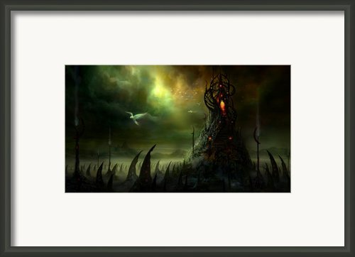 Utherworlds Where Fears Roam Framed Print By Philip Straub