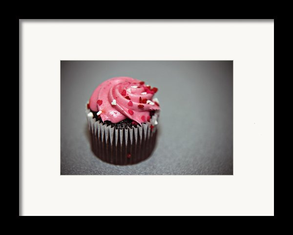 Valentines Cupcake Framed Print By Malania Hammer