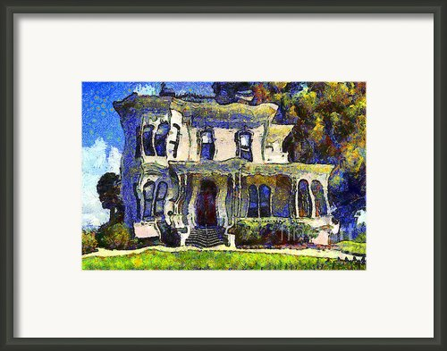 Van Gogh Visits The Old Victorian Camron-stanford House In Oakland California . 7d13440 Framed Print By Wingsdomain Art And Photography