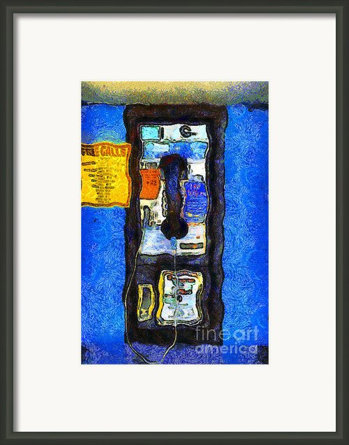 Van Gogh.s Pay Phone . 7d15934 Framed Print By Wingsdomain Art And Photography