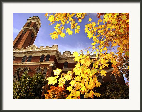 Vanderbilt Kirkland Hall In The Fall Framed Print By Vanderbilt University