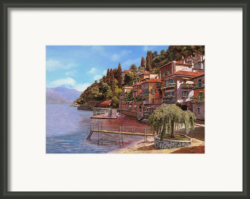 Varenna On Lake Como Framed Print By Guido Borelli