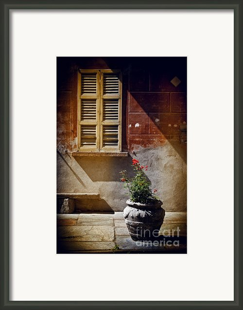 Vase Window And Shadows Framed Print By Silvia Ganora