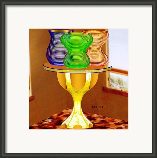 Vases Trio  Framed Print By Buddy Paul
