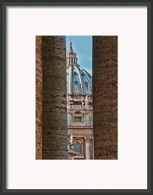 Vatican Framed Print By Tom Prendergast
