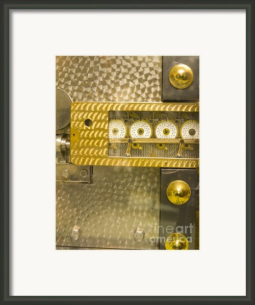 Vault Door Timing Device Framed Print By Adam Crowley