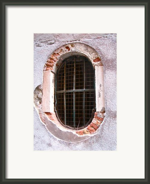 Venetian Window Framed Print By Italian Art- Angelica