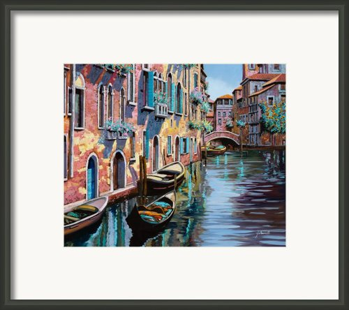 Venezia In Rosa Framed Print By Guido Borelli