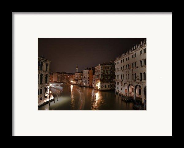 Venice By Night Framed Print By Joana Kruse