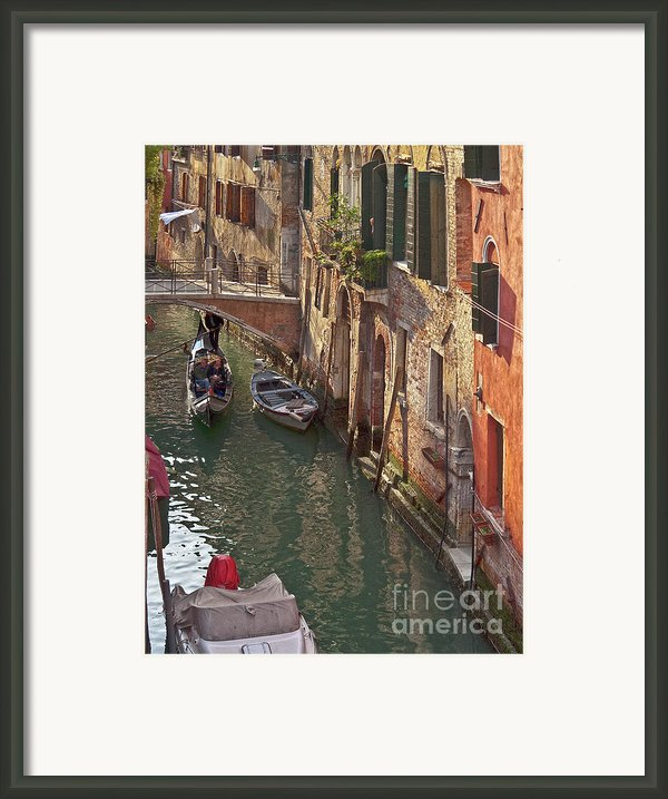 Venice Ride With Gondola Framed Print By Heiko Koehrer-wagner