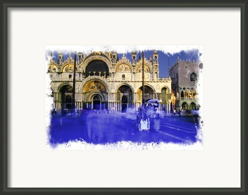 Venice Saint Mark Basilique By Night Italy Europe Framed Print By Krzysztof Gapys