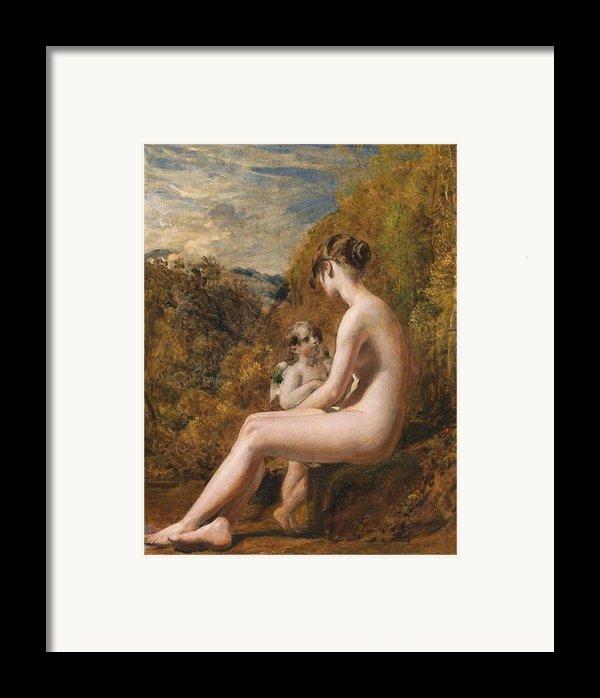 Venus And Cupid  Framed Print By William Etty