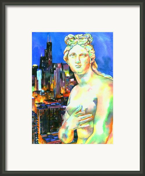 Venus In The City Framed Print By Christy  Freeman