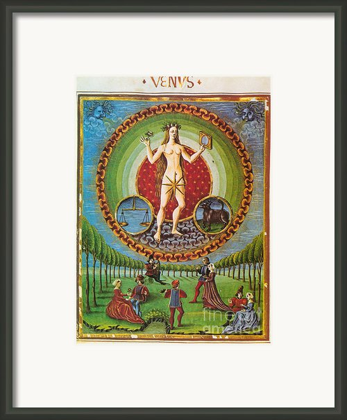 Venus, Ruler Of Taurus And Libra Framed Print By Photo Researchers