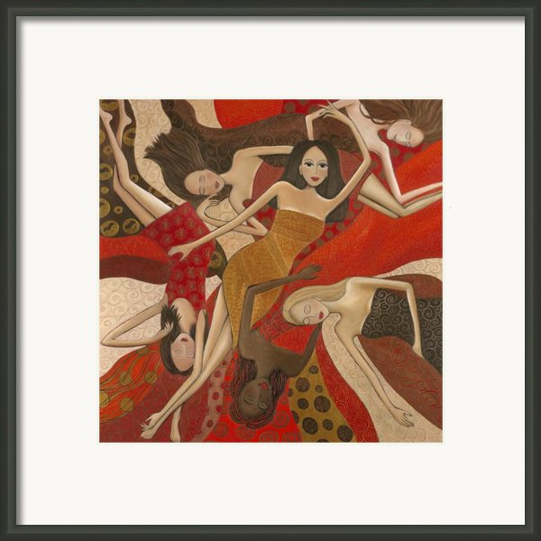 Vermilion Dream Framed Print By Denise Daffara