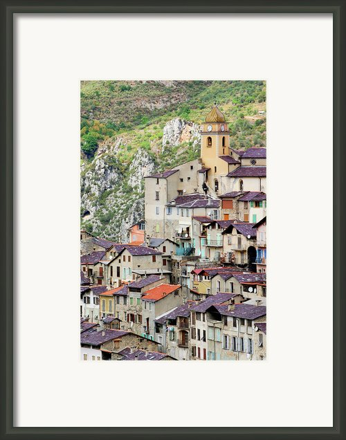 Vertical Panorama Of Saorge Framed Print By Alexandre Fundone