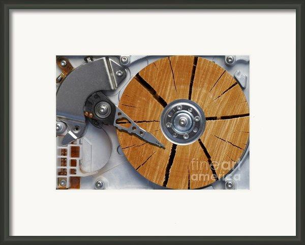 Very Old Hard Disc Framed Print By Michal Boubin