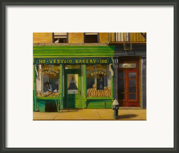 Vesuvio Bakery In New York City Framed Print By Christopher Oakley