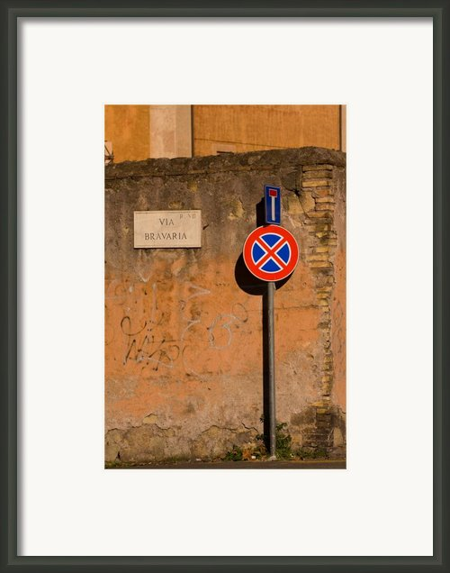 Via Bravaria Framed Print By Art Ferrier