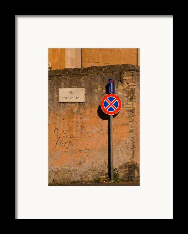 Via Bravaria Framed Print By Art Ferrier