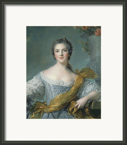 Victoire De France At Fontevrault Framed Print By Jean Marc Nattier