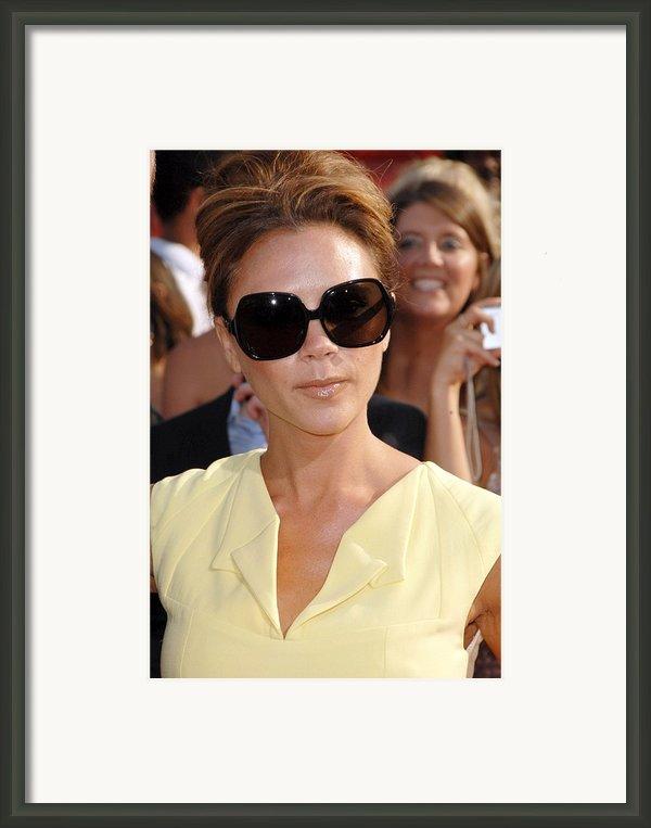 Victoria Beckham At Arrivals Framed Print By Everett