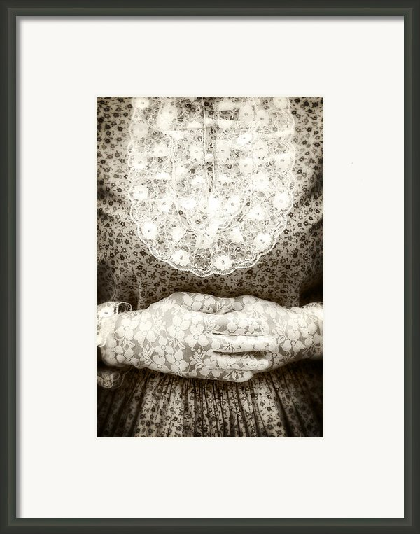 Victorian Hands Framed Print By Joana Kruse