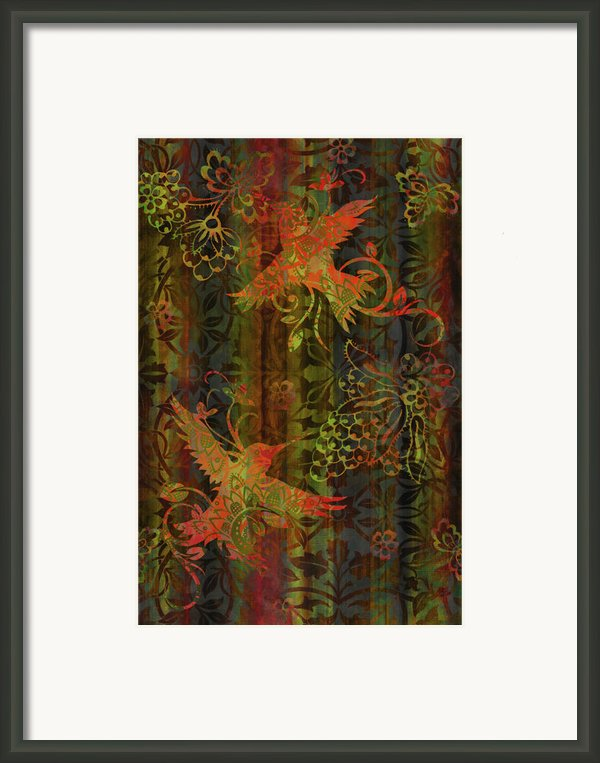 Victorian Humming Bird 3 Framed Print By Jq Licensing