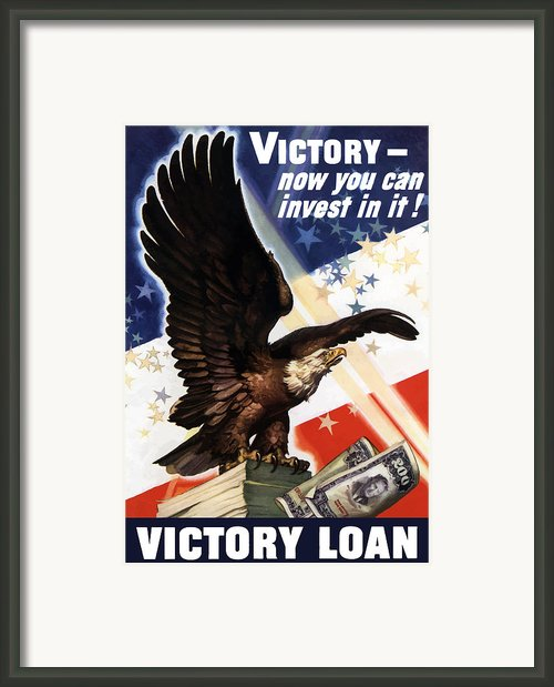 Victory Loan Bald Eagle Framed Print By War Is Hell Store