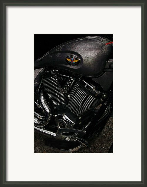 Victory Motorcycle Framed Print By Diane E Berry