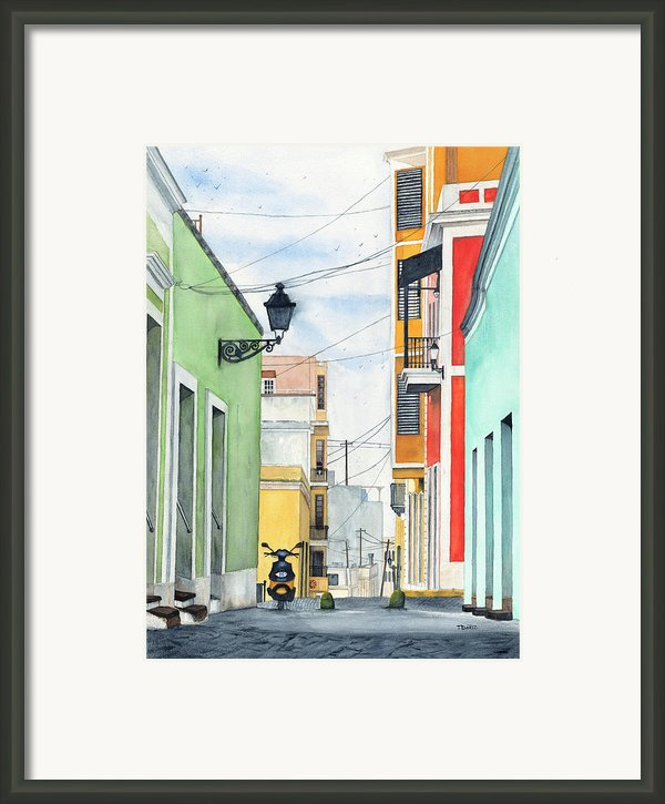 Viejo San Juan Framed Print By Tom Dorsz