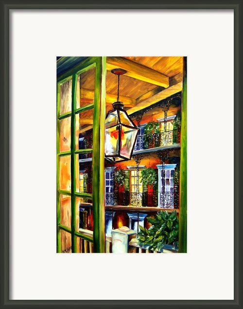 View From A French Quarter Balcony Framed Print By Diane Millsap
