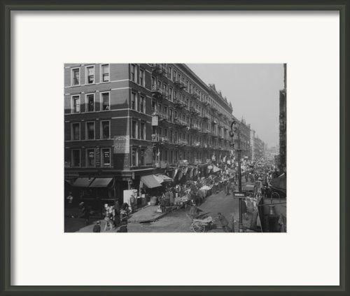 View From Rivington Street On New York Framed Print By Everett