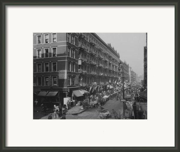 View From Rivington Street On New York Framed Print By Everett