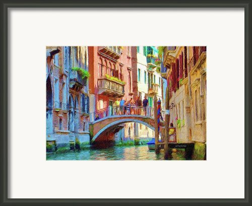 View From The Canal Framed Print By Jeff Kolker