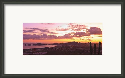 View Of Cabo San Lucas And Tip Of Baja Framed Print By Stuart Westmorland