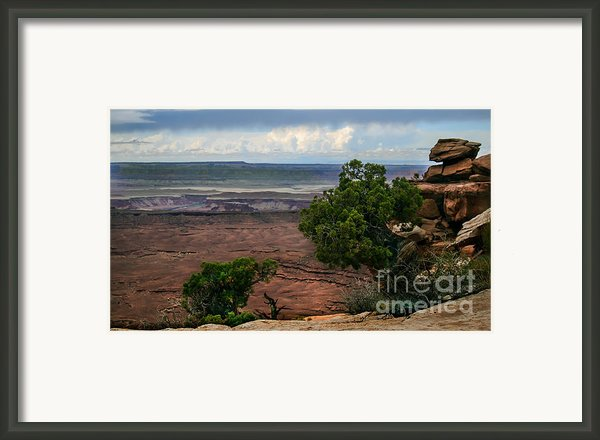 View Of Canyonland Framed Print By Robert Bales