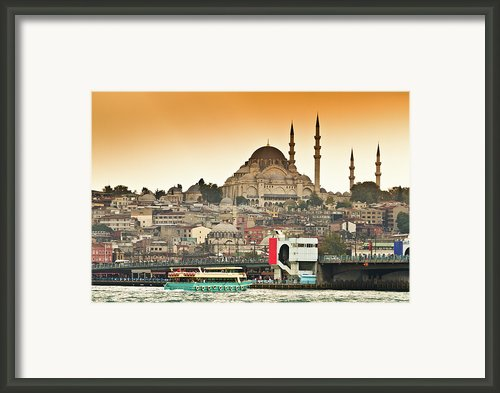 View Of Istanbul Framed Print By (c) Thanachai Wachiraworakam